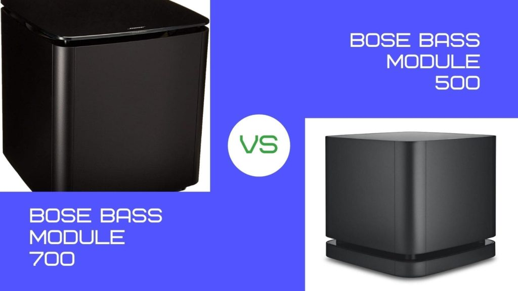 Difference between Bose Bass 500 and 700
